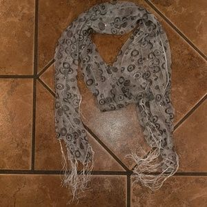 Circle Pattern Sheer Scarf
